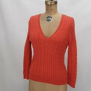 Michael Kors Orange Knit Pullover Sweater